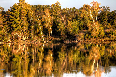 Mirrored refection at sunset