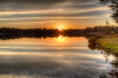 Cabin sunset, HDR photo