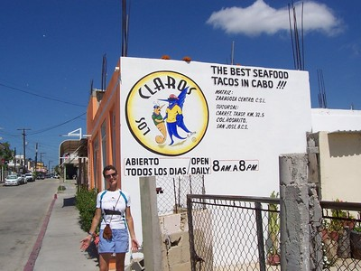 The best seafood tacos in Cabo!