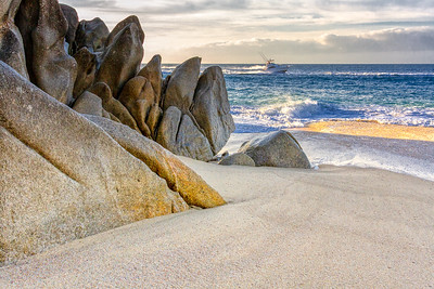 Where rocks meet sand in Cabo