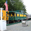 Coupled to the Lakeport train at Meredith now ready to head south to the drawbridge siding.