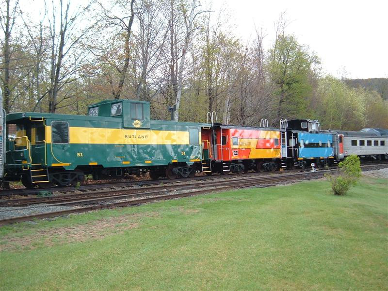 Three Caboose Styles In Lincoln Yard