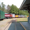 July 2012 and Caboose 51 has arrived back in Lincoln for the summer at the south end of engine house two.