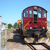 Engine 1008 places the cabooses on the siding at Lakeport for the annual Motorcycle Week festivities.