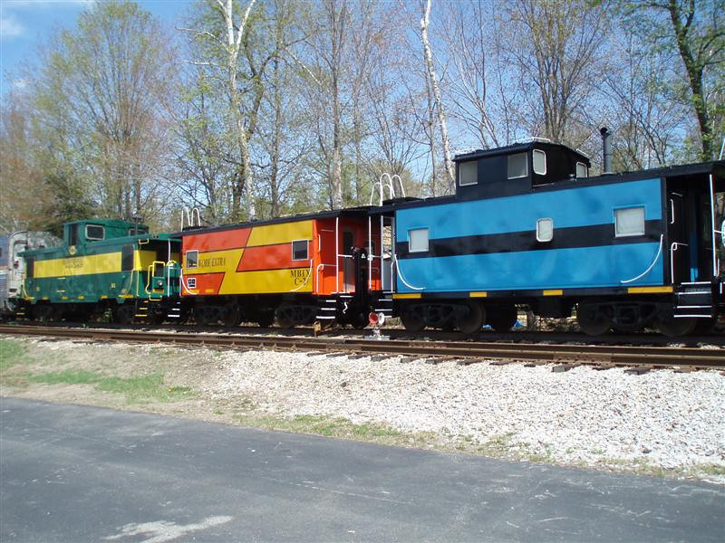May 5th 2012 finds these three good looking cabooses on enginehouse 2 track at Lincoln