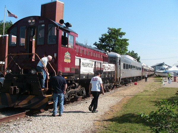 Crew changes ends at Lakeport Station before another return trip to Weirs.
