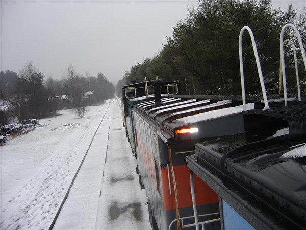 Along The Line: Caboose Train Heading North Out Of Concord New Years Day