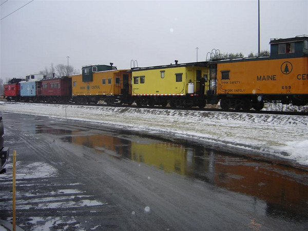 Cold Day In Concord: Caboose Train Just North of Downtown Concord