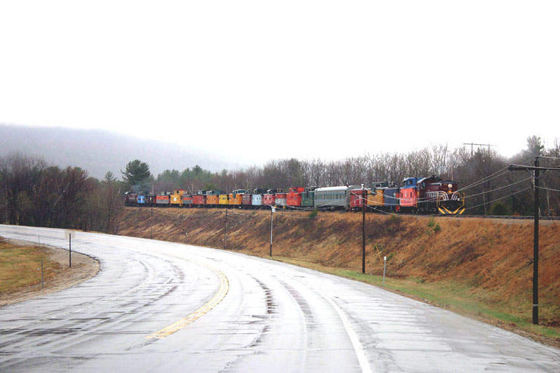 Ashland Area: Caboose Train Along The 93 Exit In Ashland Area