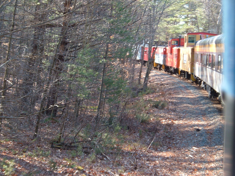 Through the Woods: Caboose Train Just north Of Plymouth On Dec 03 2006