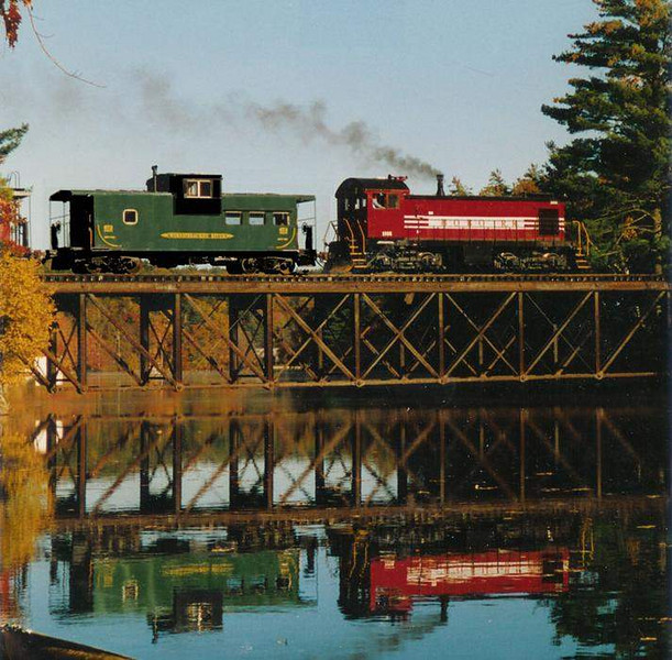 Over The River: Caboose Train Over The River On The HOBO RR photo by George  Kenson