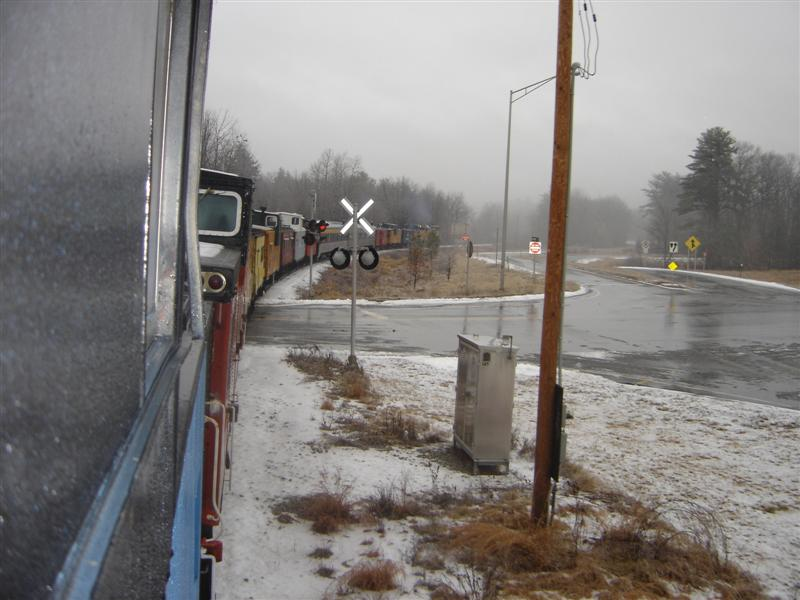 Picture From Troy's Caboose: Taken From The Newest Member Of The Tilton Caboose Train Heading Just North Of Concord On The New England Southern RR New Years Day 2007