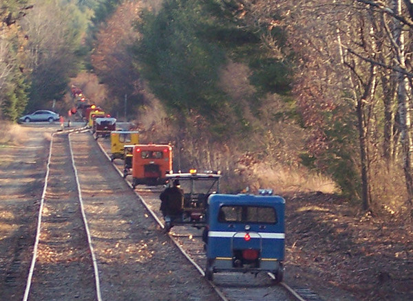 <strong>MotorCar Weekend:</strong>  MotorCars travel the Hobo and New England Southern RR's twice a year on special weekends. photo  by George Kenson