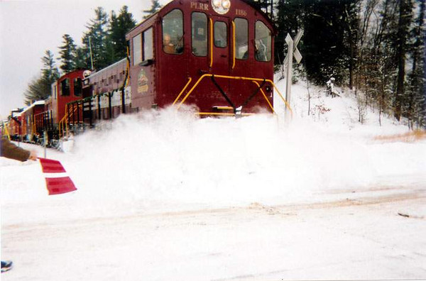 Caboose Train In The Snow: Last Caboose Train Of The Year  photo by George Kenson