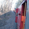 Just South Of Lincoln: Caboose Train On 12/03/06 just south of Lincoln on the HOBO RR