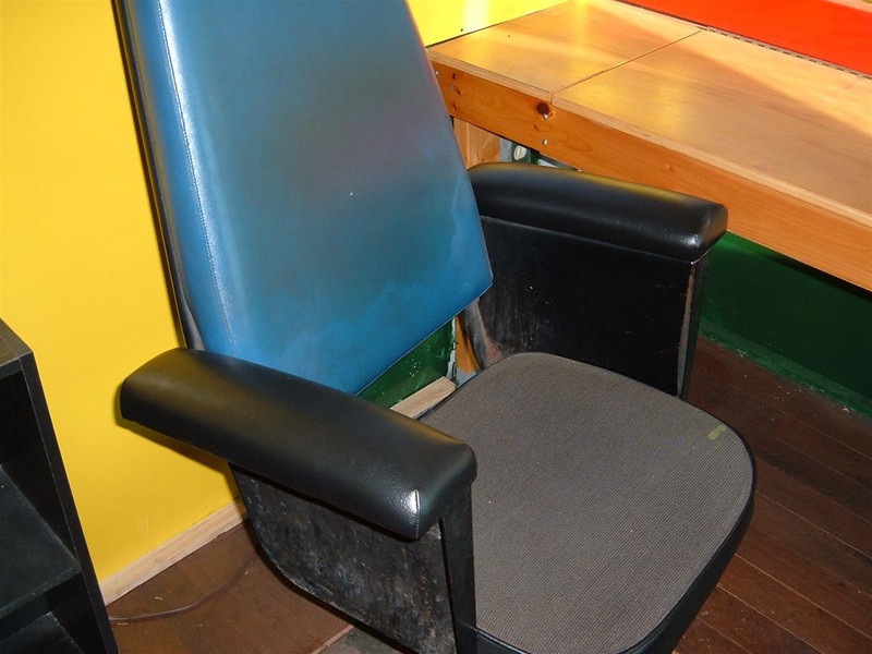 New Arm Rests On the original caboose chairs.