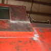 Sanded down in preparation for painting: Late Fall of 2007 the caboose is now sanded down in the Lincoln Shops