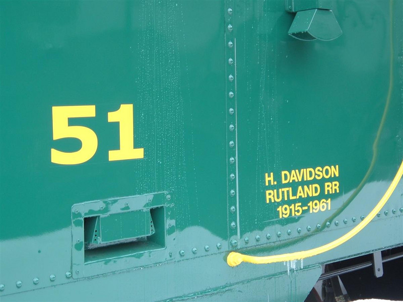 Rutland 51: Dedicated to Harold A Davidson who worked as conductor on the real  Rutland #51 in the 60's. He started working for the Rutland in 1915 finishing up with the Rutland in Sept 1961 due to  a labor strike that finished the railroad.