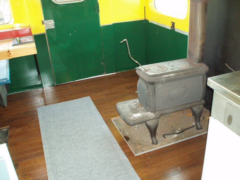Wood stove and new wood floor: First weekend in Concord, NH