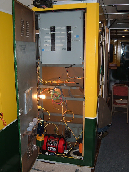 Reorganized and re-wired electrical locker