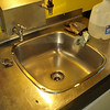 Clean sink: After some elbow grease, sink and counter are clean and shiny