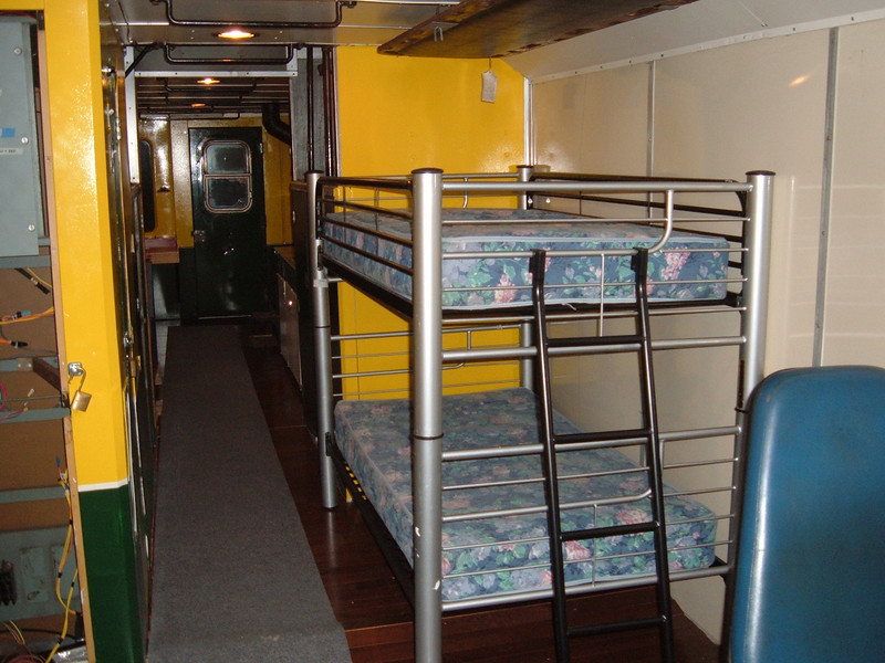 New Bunks Installed: New Bunks which were found with the help of Amtrak Conductor Norm Murphy were installed Dec 29th.