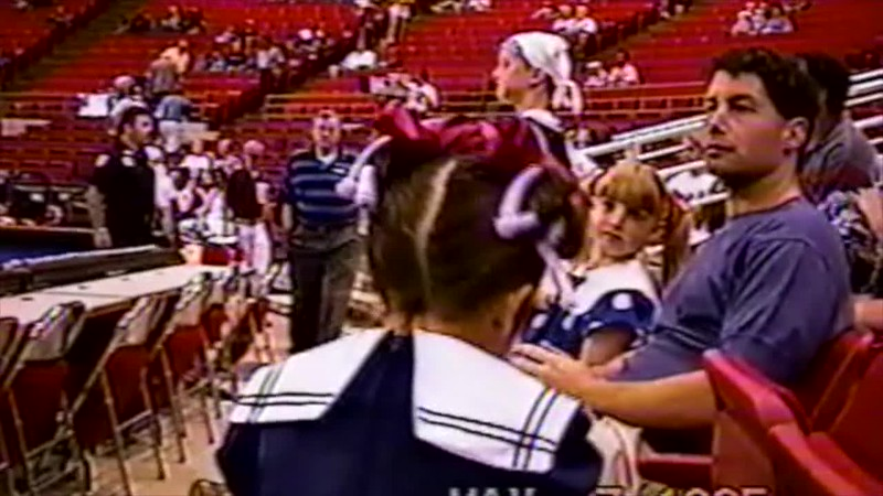 1995 - Thea singing national anthem Orlando Magic 3 games