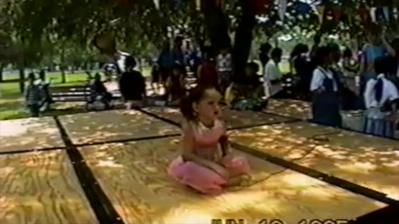 1995 - Thea and Lydia performing park 1b