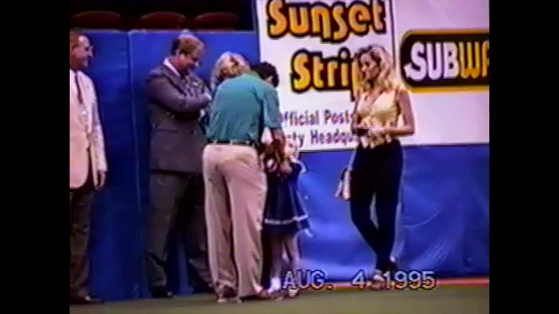 1995 - Thea singing NA storm game