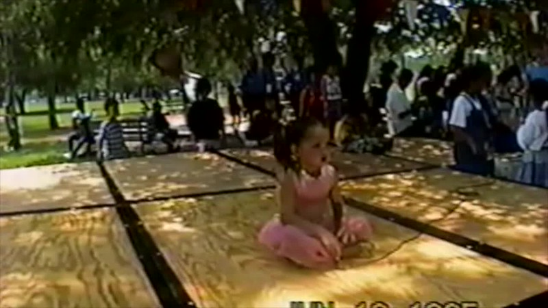 1995 - Thea and Lydia performing park 2