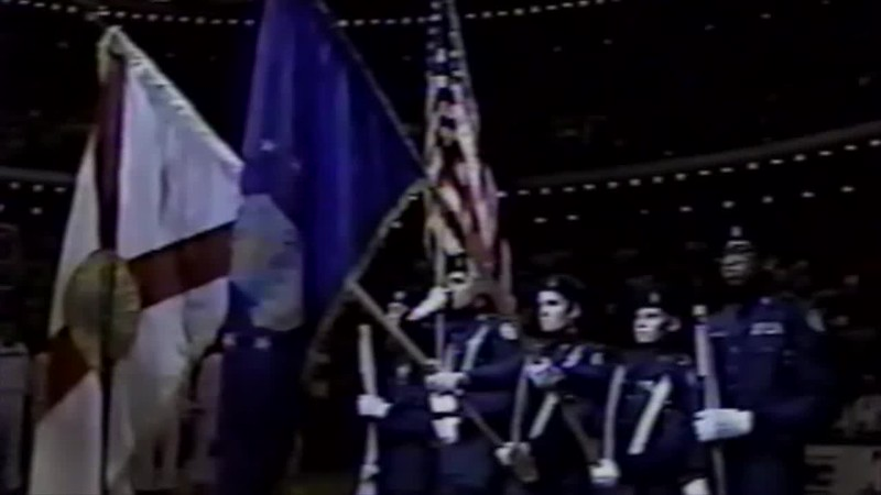 1995 - Thea singing national anthem Orlando Magic News