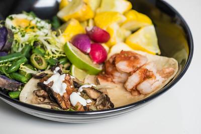August 7, 2017 | Shrimp and Mushroom Tacos