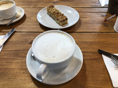 Cappuccino and Raspberry Blondie at Filmore and Union, Redbrick Mill