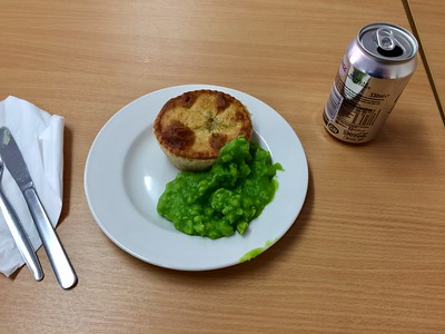 Cheese and Onion Pie and Mushy Peas on the East Lancs Railway