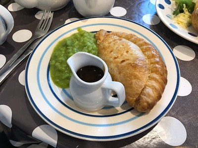Cheese and Onion Pasty at the Strid Café, Bolton Abbey