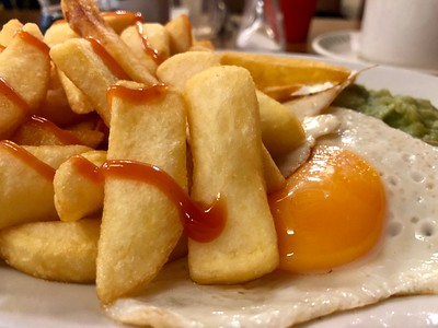 Egg and Chips at Fountains Café, Bradford