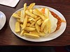 Double Egg, Chips and Baked Beans at Fountains Café, Bradford
