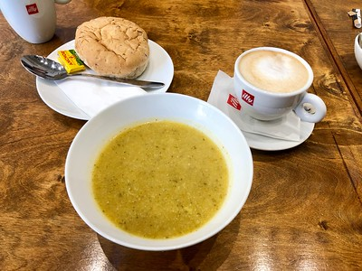 Golden Vegetable Soup at the Canteen in Bradford