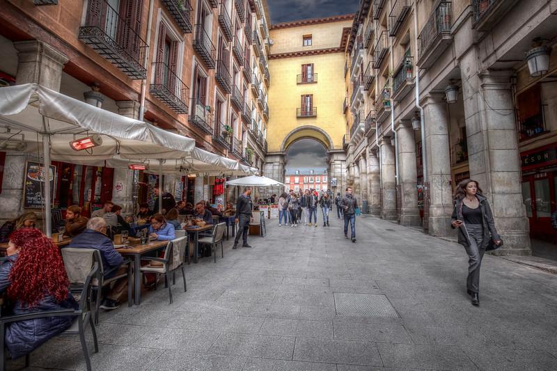 Cafe on Street, Madrid Spain