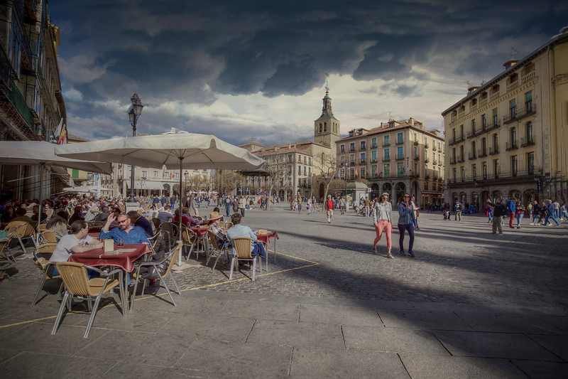 Cafe in Segovia Spain
