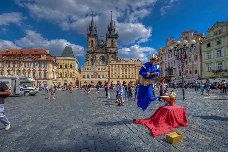 Floating Genie, Old Town Square, Prague Czech Republic