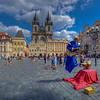 Floating Genie, Old Town Square, Prague Czech Republic