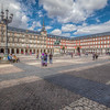 Old Town Square With People, Madrid Spain