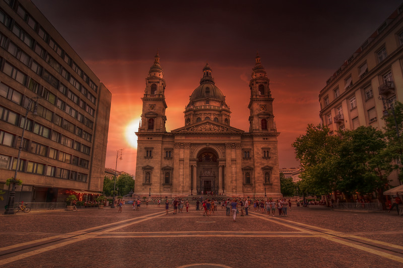 Sunset At St Stephens Basilica, Budapest