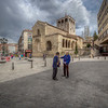 Conversation In Square, Segovia Spain
