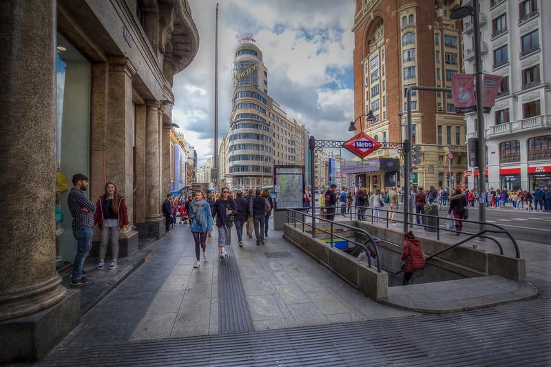 Subway Entrance, Madrid Spain