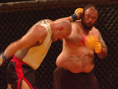 Cage fighting Bobby Hoffman