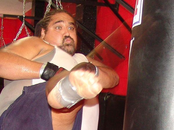 365 lb gonna kick you. Mixed Martial Arts