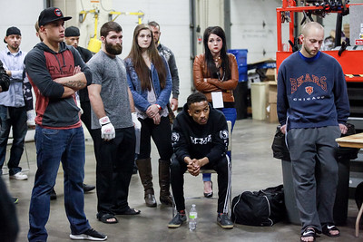 Backstage and pre-fight meeting at Caged Aggression XIX: Clash of Champions
