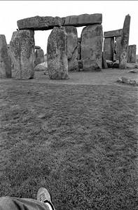 Pierna en Stonehenge